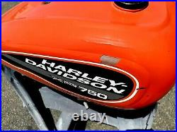 Used Aluminum Gas / Fuel Tank Harley RX-750 Double Pingel petcock with gas cap