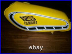Yamaha YZ125 ALUMINUM FUEL TANK 1976